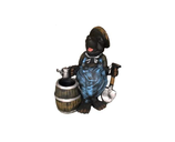 RIKR292 Maulwurf Figur mit Fass und Sparten