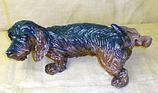 RIPS03 Rauhaardackel Hund Figur lebensgroß hebt Bein