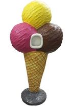 RIIIB027 Eistüte Werbefigur Mülleimer