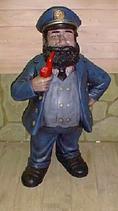 RIPO54 Kapitän Figur mit Pfeife Maritime Figur