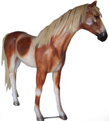 RI10A73 Pferde Figur mit Kunsthaar lebensgroß