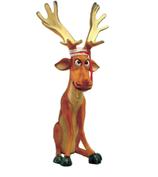 RIB263 Rentier Figur sitzt lustig für Weihnachten