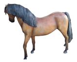 RI10A74 Pferde Figur mit Kunsthaar lebensgroß