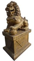 RIB76 Fu Hund Löwe Tempelwächter Figur links