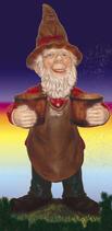 RIPO117 Wichtel Figur mit Töpfen
