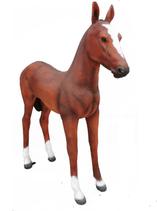 RI818 Fohlen Figur lebensgroß Deko Garten Gastro Werbe Figur