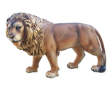 RI4D84 Löwe steht Figur Lebensgroß links
