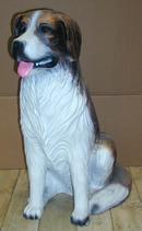 RIO14 Bernhardiner Hund Figur lebensgroß