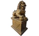 RIB75 Fu Hund Löwe Tempelwächter Figur Deko Garten Werbe Gastro Figur rechts