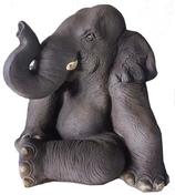 RIA594 Elefant Figur sitzt