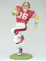 RI1619 American Football Figur lebensgroß