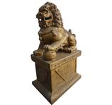 RIB76 Fu Hund Löwe Tempelwächter Figur Deko Garten Werbe Gastro Figur links