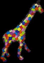 RISCD004 Giraffe Figur bunt