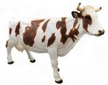 RIA778B Kuh Figur lebensgroß braun weiß