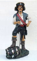 14120 Dekofigur Pirat lebensgroß steht lustig