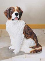 RIF186 Bernhardiner Hund Figur