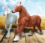 RIA2508 Pferde Figur lebensgroß