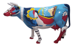 RISAB003 Kuh Figur lebensgroß