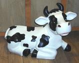 RIB23A Kuh Figur liegt lustig