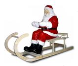 152260 Nikolaus Figur sitzt auf Schlitten