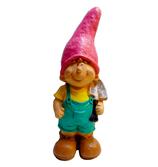 RIC377 Jungen Figur mit Schüppe als Gartenfigur