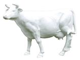 125010R Kuh Figur lebensgroß weiss Rohling