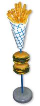 RIIHA011 Hamburger Pommes Figur