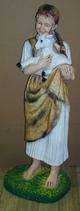 RIPO73 Mädchen Figur mit Schaf