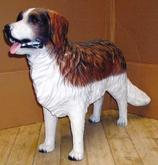 RI039BD Bernhardiner Hund Figur lebensgroß