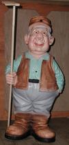 RIPO101 Bauer Figur mit Harke
