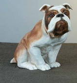 RIF38 Bulldogge Hund Figur