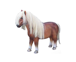 RI10A69 Pony Figur mit Kunsthaar lebensgroß Deko Garten Gastro Werbe Figur