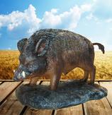 RIA2514 Wildschwein Figur lebensgroß