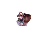 RI7A27 Affe Pirat Figur in Schatztruhe