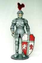 RI1638 Ritter Figur lebensgroß