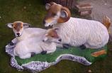 RIZD07 Schafsgruppe Figur