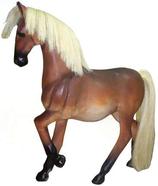 RI10A70 Pferde Figur mit Kunsthaar
