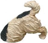 RIB143 Hund Figur buddelt