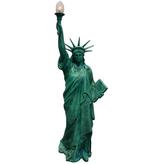 A001a Freiheitsstatue Figur lebensgroß grün