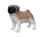 RIPS105 Mops Hund Figur lebensgroß steht