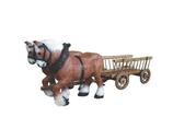 121090 Pferdekutsche Figur Deko Garten Gastro Werbe Figur