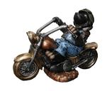 110010 Maulwurf Figur Motorrad