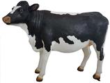 RIA705A Kuh Figur groß schwarz weiß