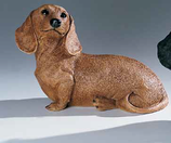 RIF323M Dackel Welpe Hund Figur
