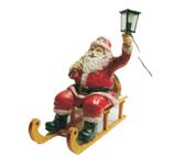 RIA99 Weihnachtsmann Figur auf Schlitten für Weihnachten