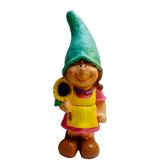 RIC378 Figur Mädchen mit Blume als Gartenfigur