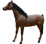 RIA196B Pferde Figur lebensgroß Deko Garten Gastro Werbe Figur