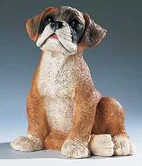 RIF327 Boxer Welpe Hund Figur