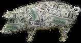 RISAD001 Schwein Figur groß bunt