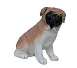 10590 Mops Hund Figur lebensgroß